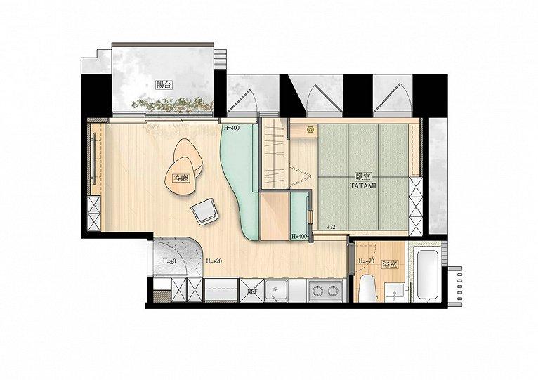 银滩 43m²公寓装修案例