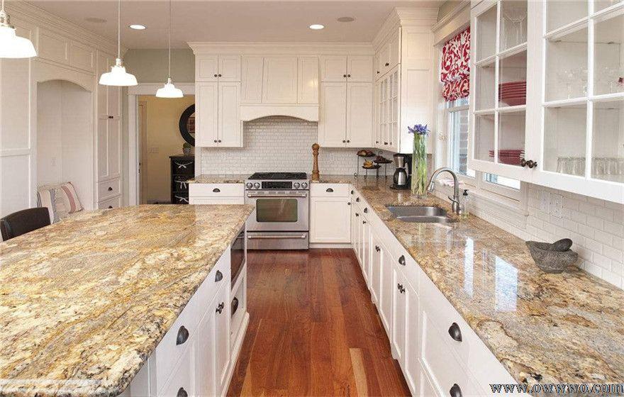鲁班装饰推荐厨房装修使用橱柜大理石台面